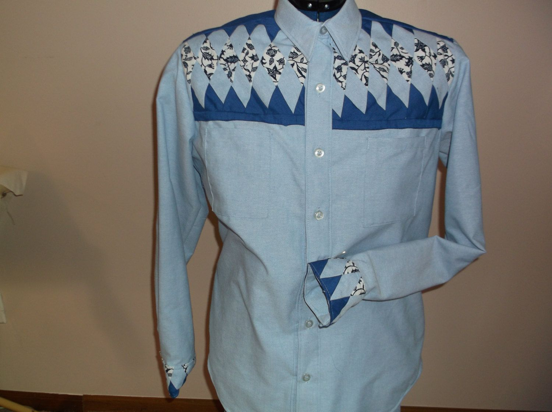 Mens Shirt Custom Made Unique Seminole Patchwork By