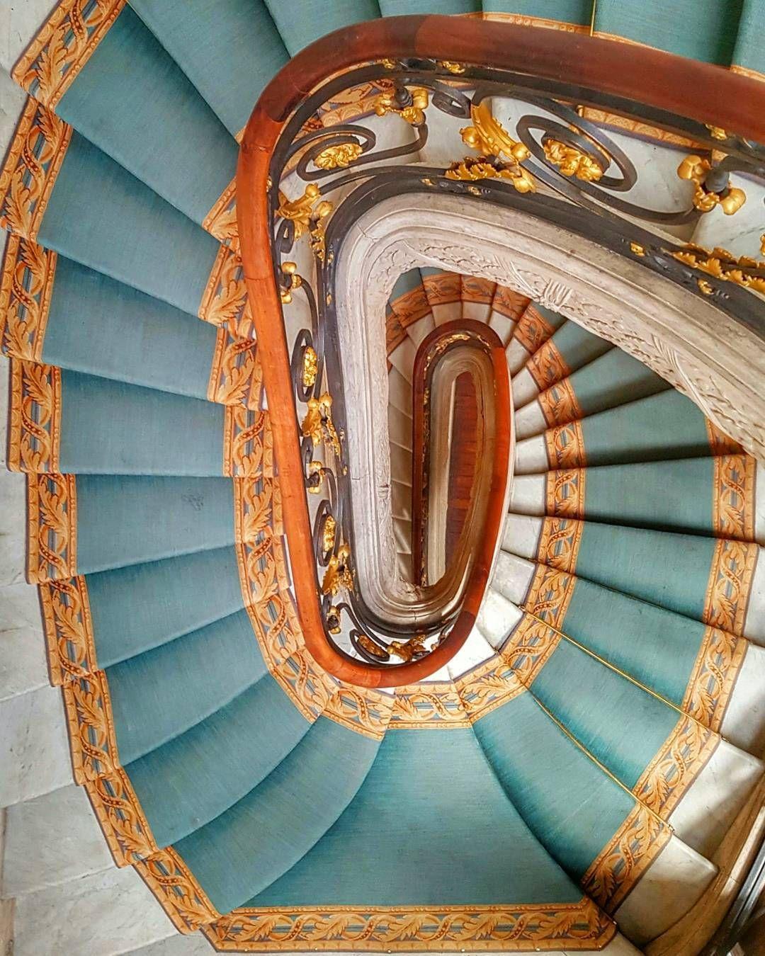 staircase and colours. Jaquemart André Museum Paris