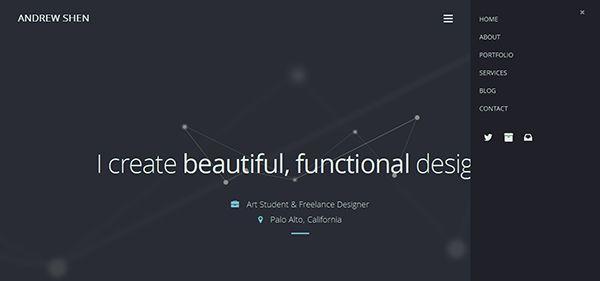 Andrewshen Personal Website Design Personal Website Website Design