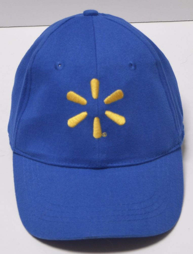 2934e509e SOLD! Walmart Employee Blue Cap Hat Strapback Adj Yellow Logo Save ...