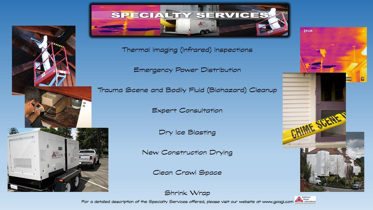 AGI Specialty Services offered Emergency power, Thermal