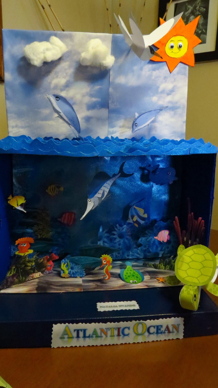 Kids Diorama With Details: Diorama Del Oceano