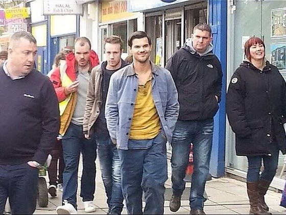 Taylor on set Cuckoo BBC show in London | Taylor Lautner | Taylor
