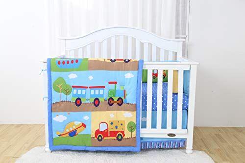 Decotex 4 Piece Choo Choo Train Baby Boy Nursery Crib