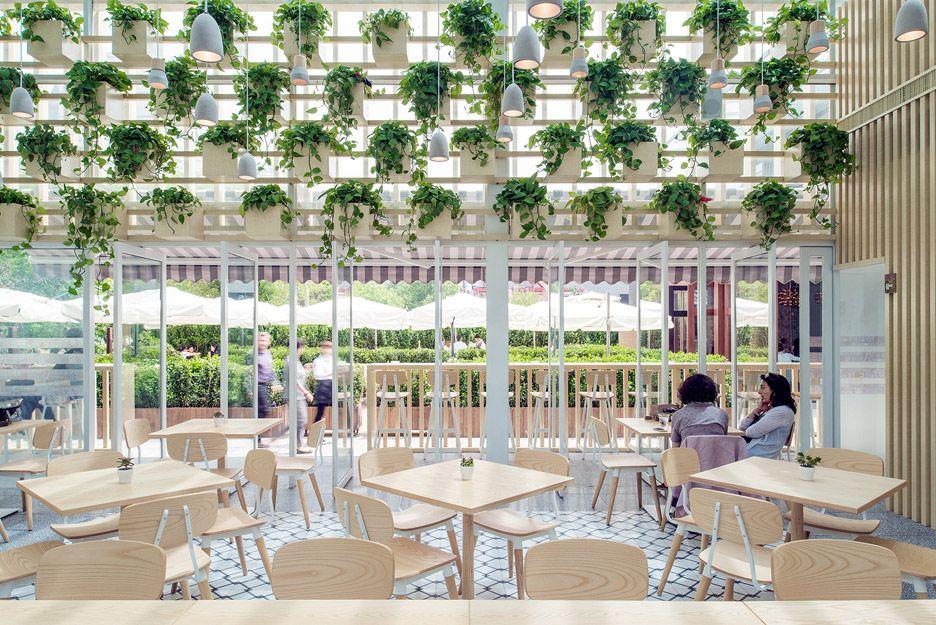 four o nine transforms greenhouse into plant-lined cafe | cafes