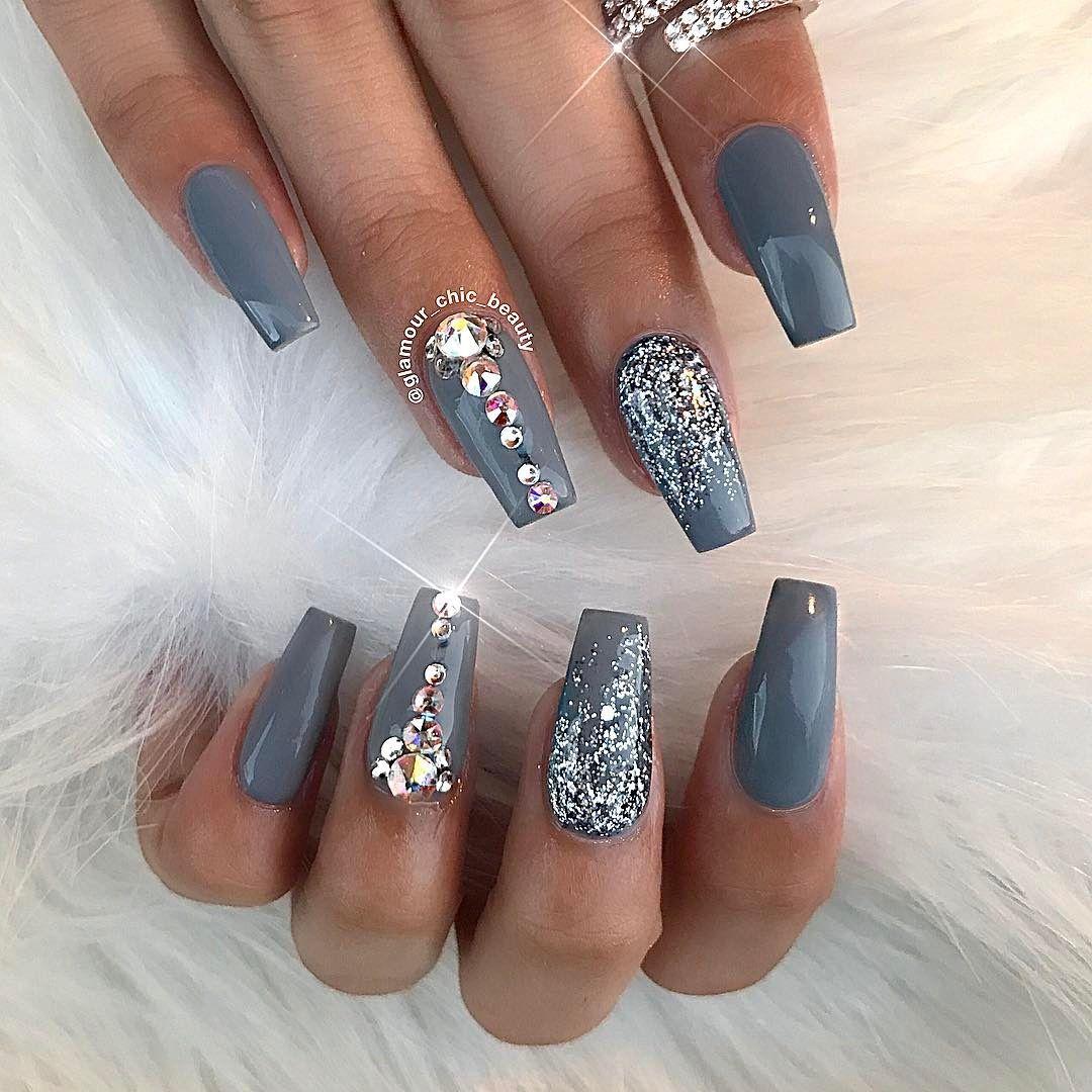 Pin by Arianna on Nails | Pinterest | Nail inspo, Makeup and Gray nails