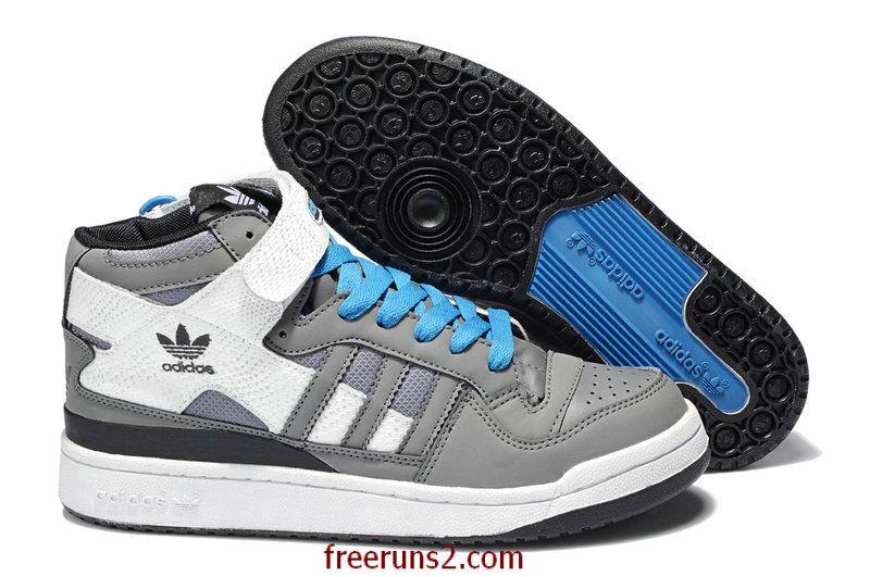 negozio scadente adidas forum di metà anno del serpente bianco blu - grigio