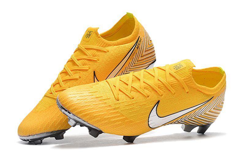 Sábana descanso Puntuación  Zapatillas de Fútbol 2018 Neymar Nike Mercurial Vapor XII FG - Amarillo  Blanco | Zapatos de fútbol nike, Zapatillas de fútbol, Botas de futbol nike