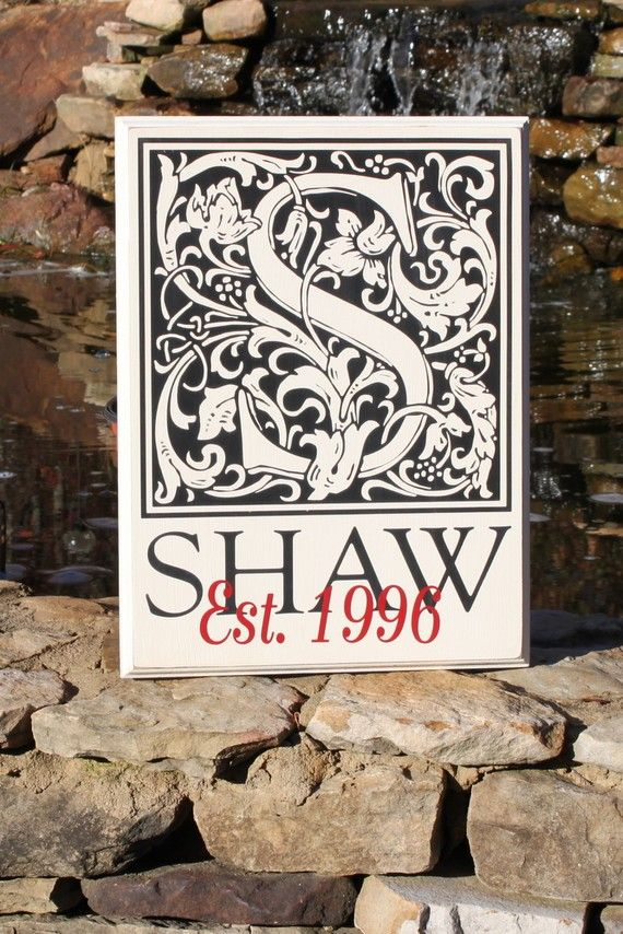 Custom Family Initial Plaque  perfect for WEDDINGS by back40life, $45.00