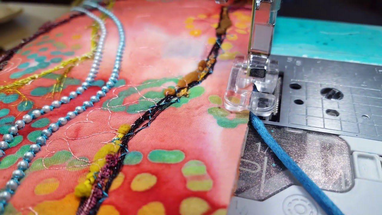 Creative feet how to bind an art quilt using cording