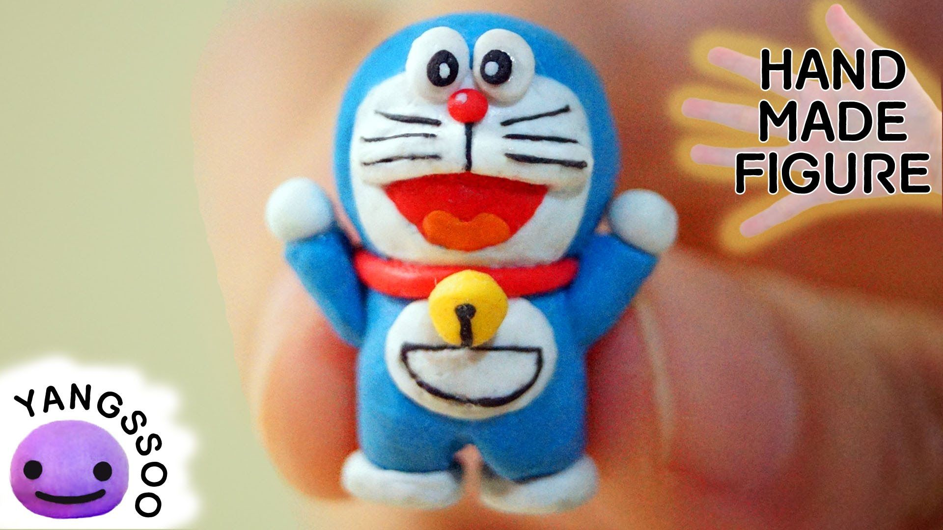 This Is How To Make Doraemon Out Of Polymer Clay Please Subscribe
