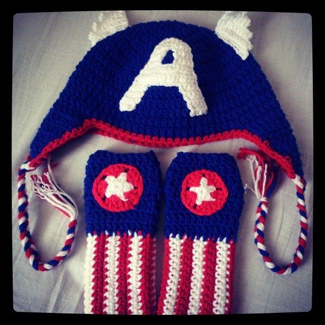 gorro crochet capitan america paso a paso - Buscar con Google ... 0fa68a33bbe