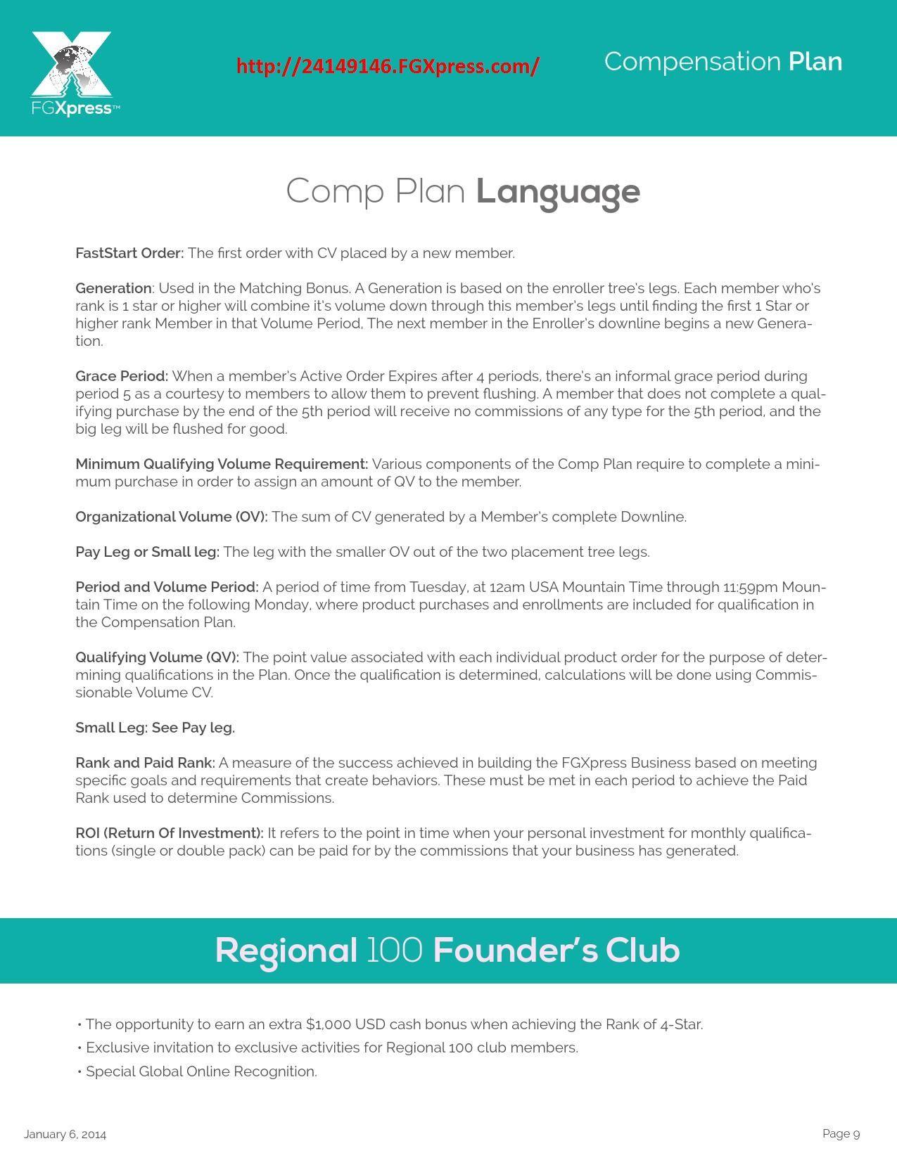 fgxpress business plan