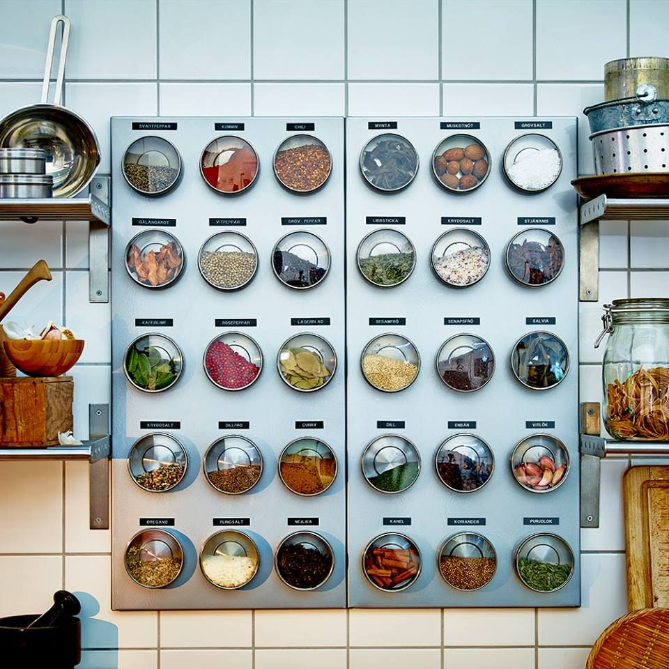 Spice Rack By Ikea Spice Storage Kitchen Spices Magnetic Spice