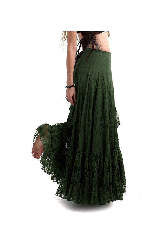 fa2036807d LONG GYPSY SKIRT flamenco skirt long wrap skirt dark by AltshopUK ...