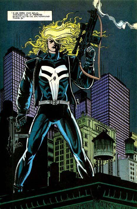 Lynn Michaels, la prima Punitrix disegnata da Gary Kwapisz #Marvel #Punisher #IlPunitore