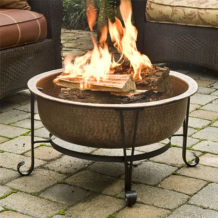 Vintage Copper Fire Pit Woodlanddirect Com Outdoor Fireplaces