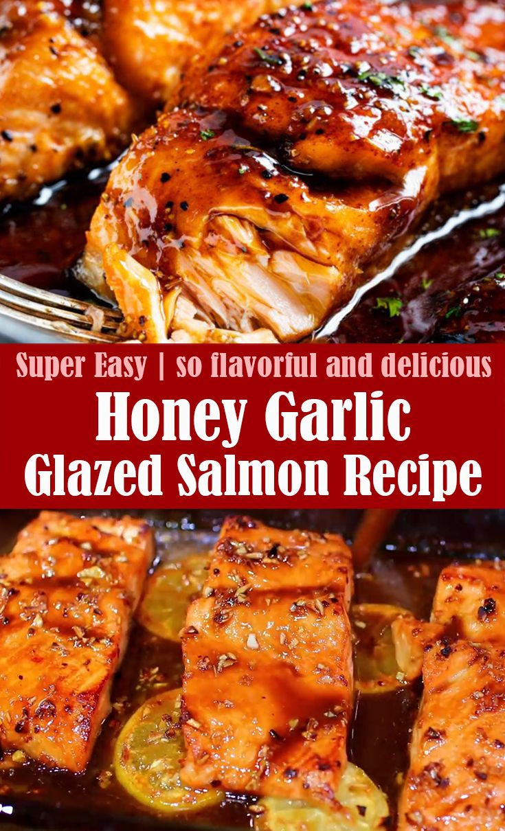 Very Easy Honey Garlic Glazed Salmon Recipe (VIDEO)