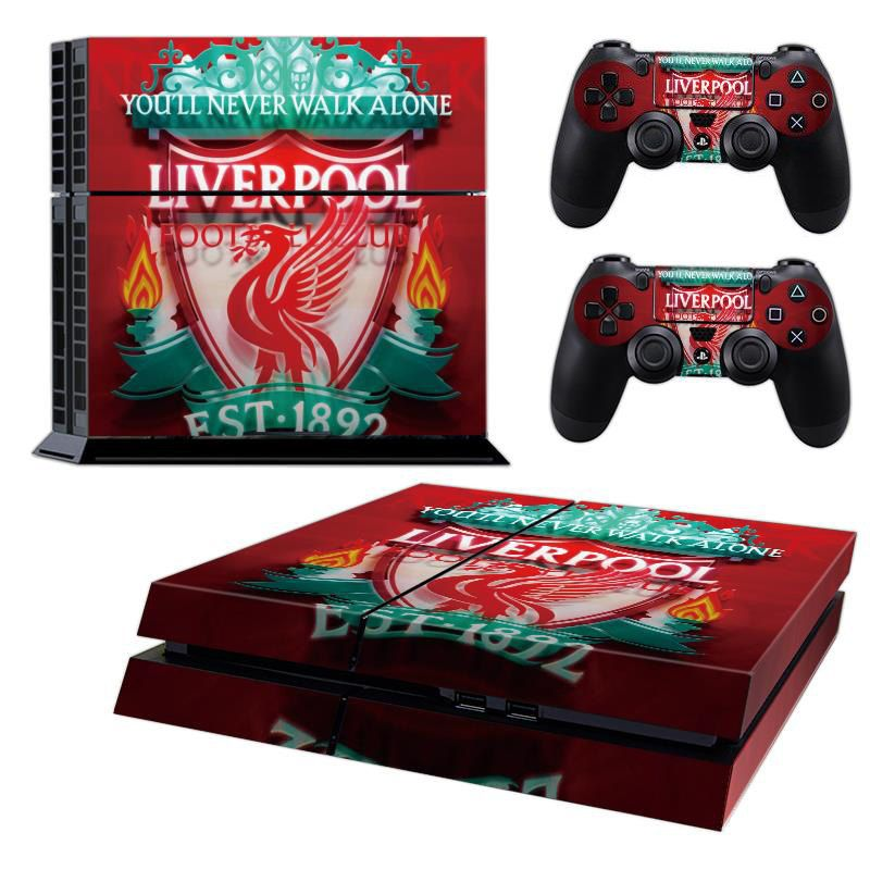 Liverpool fc playstation 4 ps4 skin decal sticker cover playstation 4 custom made