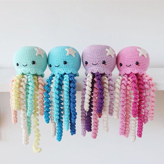 Cute Crochet Octopus Toy For Preemie Crochet Jellyfish Toy Sea