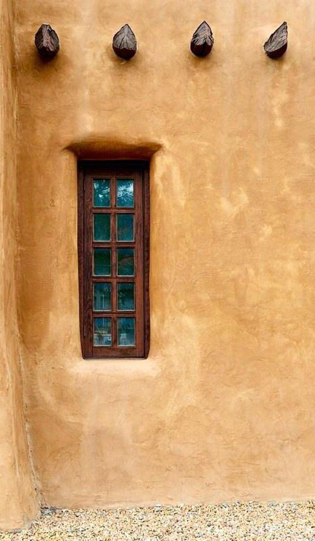 Window In The Wall Santa Fe New Mexico Nm Dta 6361 Santa Fe Style Southwest Decor New Mexico Homes