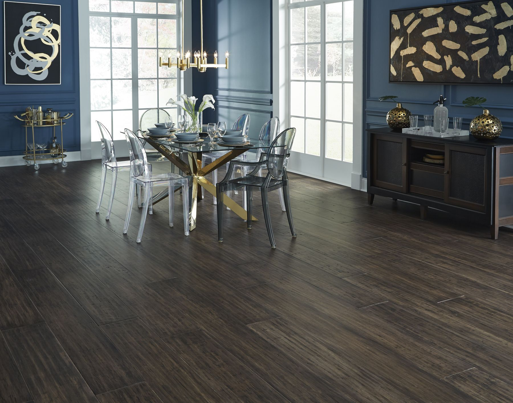 Monticello Strand Distressed Extra Wide Plank Engineered Bamboo