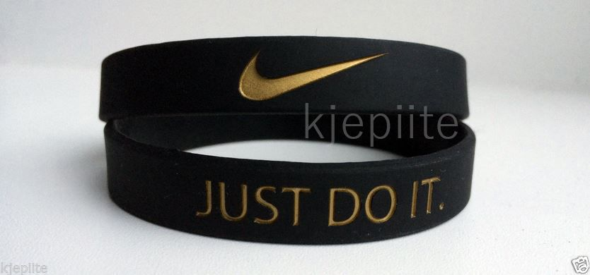 silicone rubber 3D NIKE JUST DO IT nba Black New baller bracelet wristband