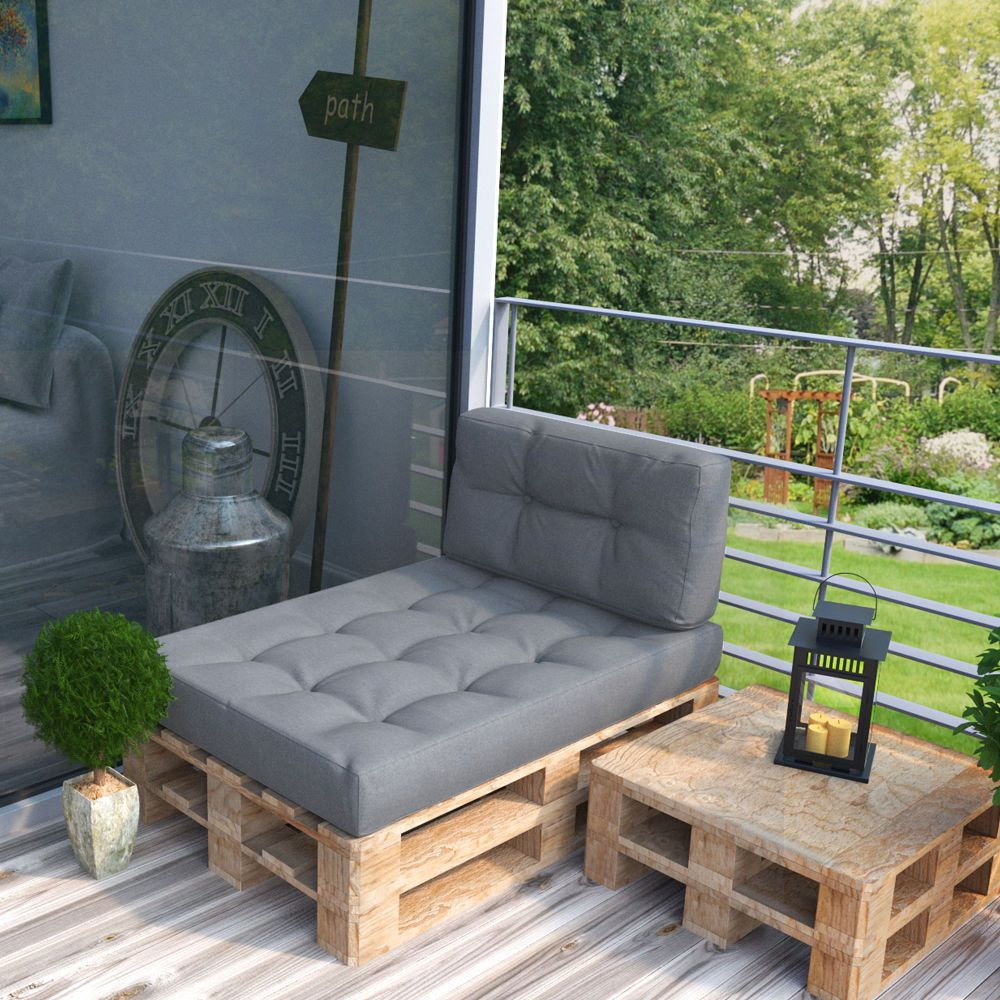 details zu palettenkissen kaltschaum kissen palettensofa. Black Bedroom Furniture Sets. Home Design Ideas