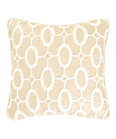 Take a look at this White & Beige Tufted Pillow on zulily today!