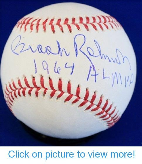 Brooks Robinson Autographed Hand Signed 1964 Al Mvp Official Rawlings Major League Baseball Major League Baseball Brooks Robinson Rawlings Baseball