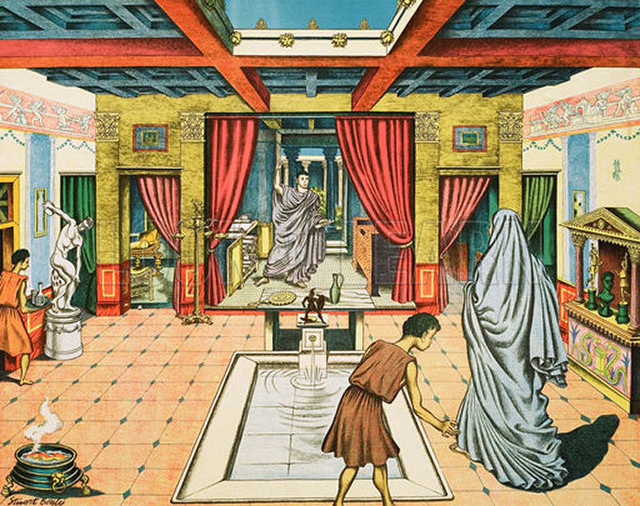 A Rich Man S House In Ancient Rome By Stuart Boyle