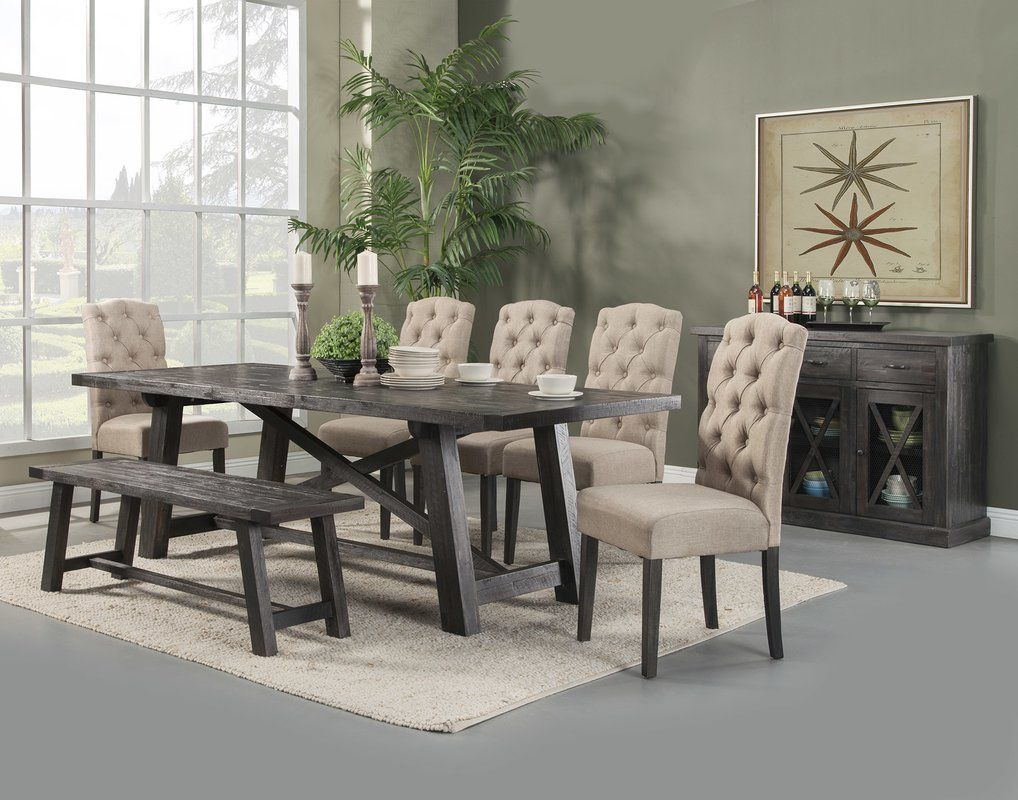Colborne Extendable Dining Table Solid Wood Dining Set Dining