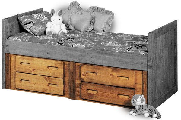 Captain S Bed Underbed Storage 4757 Captains Bed Bunk House