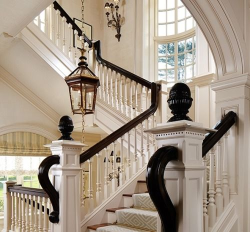 Beautiful Interior Staircase Ideas And Newel Post Designs: Those Bespoke Newel Posts…