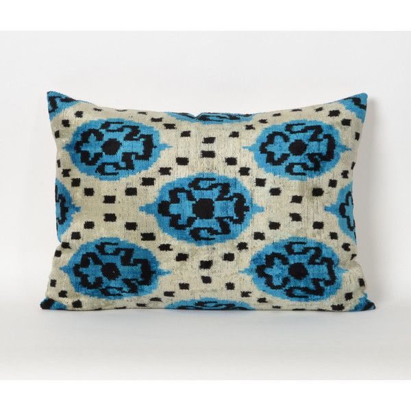 Ikat Cushion Cover Velvet Cushion Cover Silk Pillow Boho Pillow Couch... (£56) ❤ liked on Polyvore featuring home, home decor, throw pillows, decorative pillows, grey, home & living, home décor, handmade home decor, grey home decor and boho throw pillows