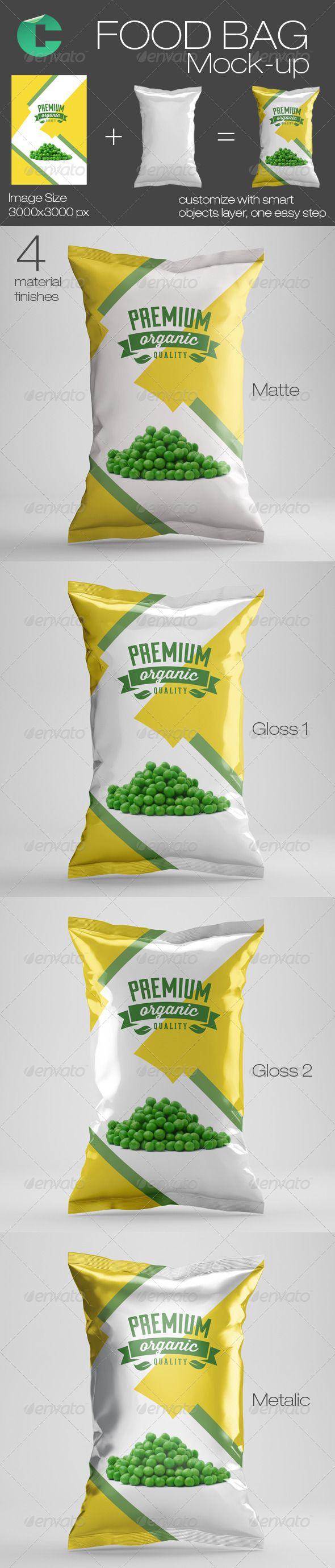 Download Food Bag Mock Up Graphic Design Mockup Mockup Food Packaging Design