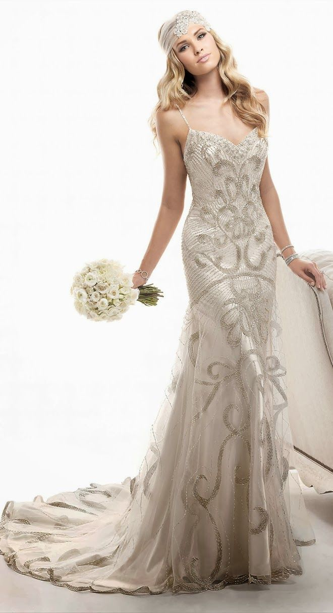 Us inspired wedding dresses fitting style and all over beading