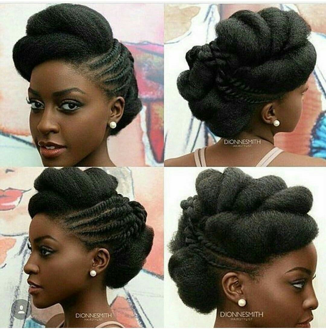 Up Do Style With Natural Hair I Like This As A Wedding Style Natural Hair Wedding Natural Hair Styles Easy Natural Hair Updo