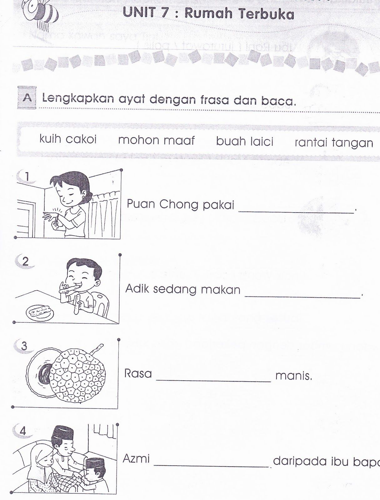 Malay Worksheets Primary 1