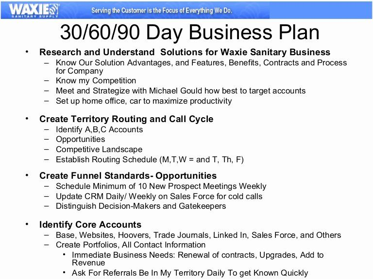 30 Sales Manager Business Plan Template in 2020 90 day