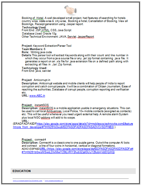 B Tech It Student Resume Page 2 Career Pinterest Resume