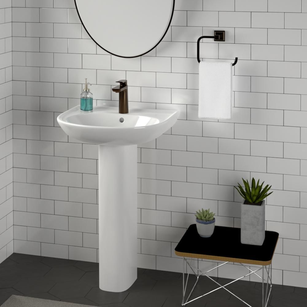 Grafton 100 Vitreous China Pedestal Sink In 2020 Pedestal Sink