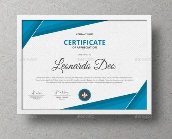 Certificate Of Recognition Template Word Eps Ai And Psd Format