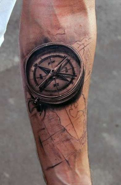 Tatuaże Męskie Kompas 3d Tatuaże Tatuaże Tatuaż I