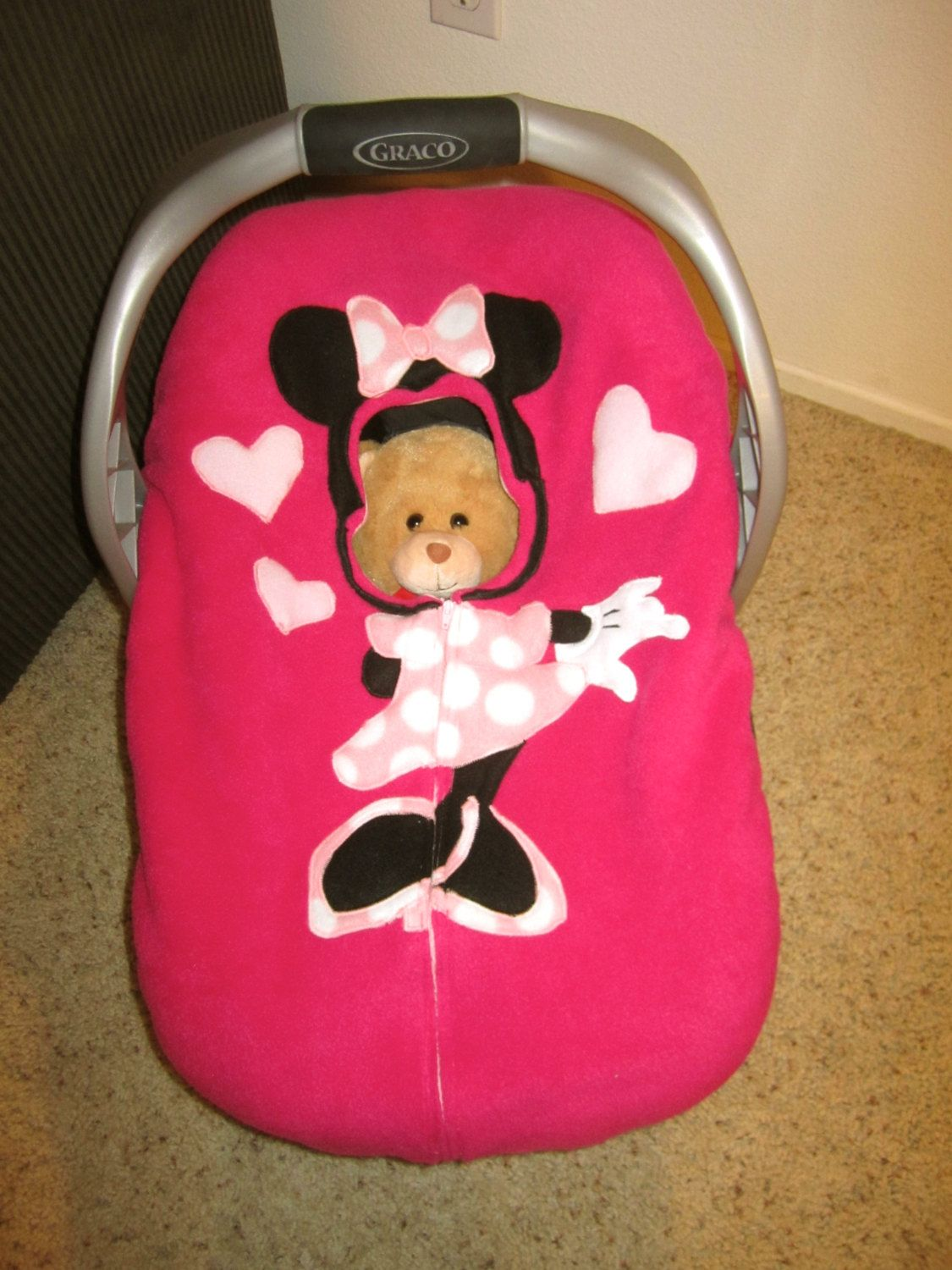 Minnie Mouse Infant Car Seat Covers Velcromag