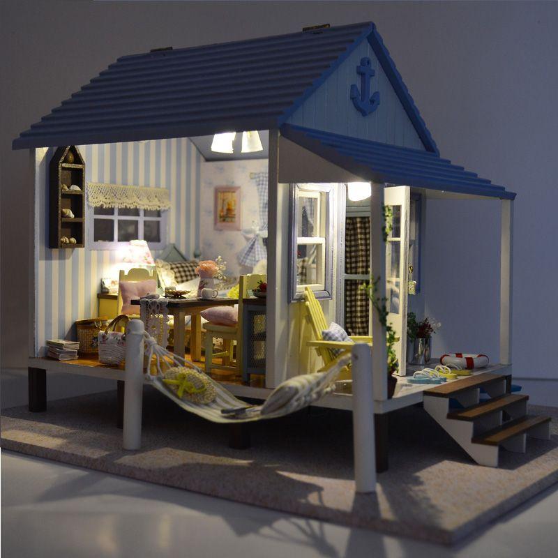 Aliexpress.com: Comprar Casa de muñecas muebles de casas de muñecas en miniatura casa de muñecas de madera miniatura bricolaje juguetes hechos a mano para los niños regalo de cumpleaños A 017 de juguete de control remoto fiable proveedores en Tou Seng Cuk