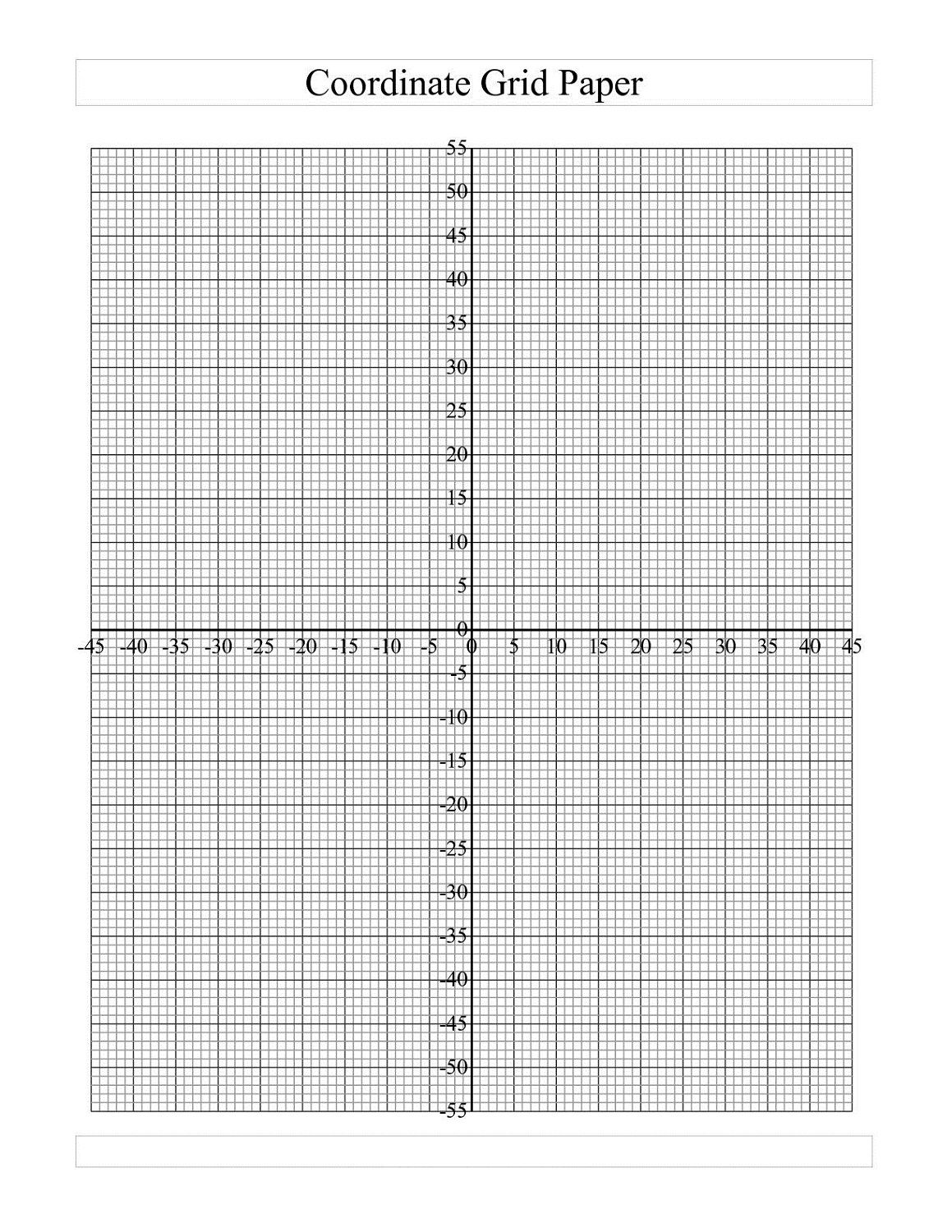Blank Graph Paper For Kids