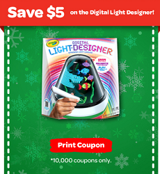5 Off Crayola Digital Light Designer Coupon Digital Light Print Coupons Coupons