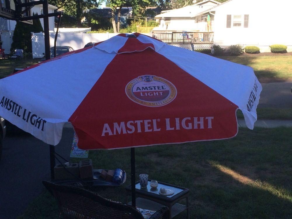 Amstel Light Patio Umbrella Brand New In Box Large 7 Foot Ebay