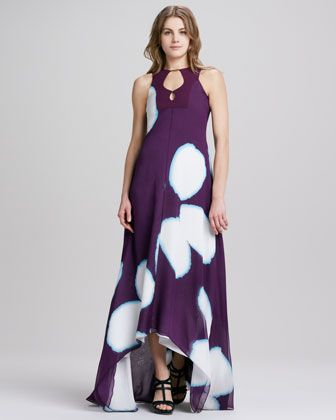 Starr Sleeveless High-Low Print Dress by Diane von Furstenberg at Neiman Marcus. the high-low dresses that have been in for a minute now...i just think of them as this year's maxi.